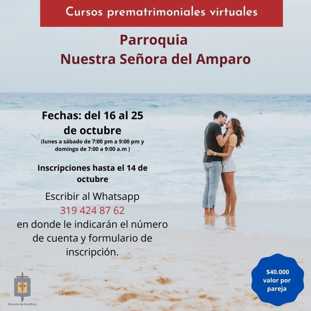 Curso prematrimonial virtual parroquia Nuestra Señora del Amparo