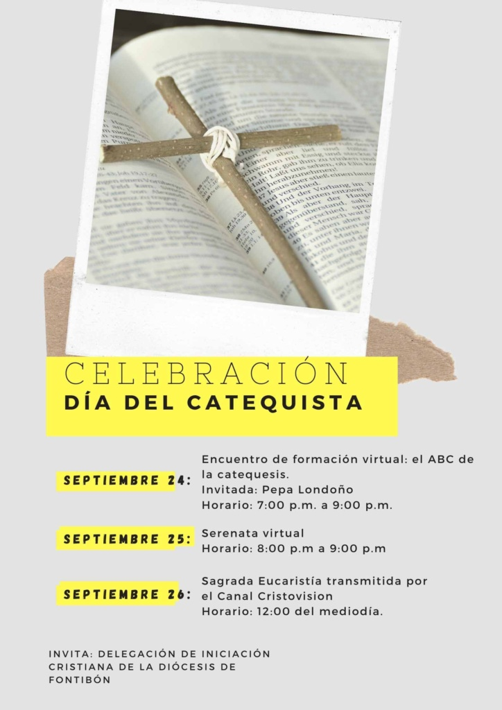 Celebración del día del catequista Fontibón 2020